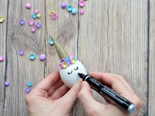 tutorial uova unicorno