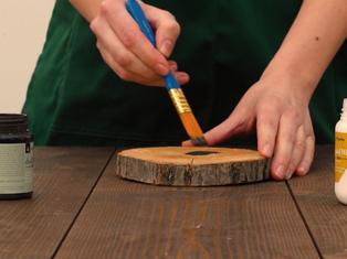 Decorazioni su legno viridea