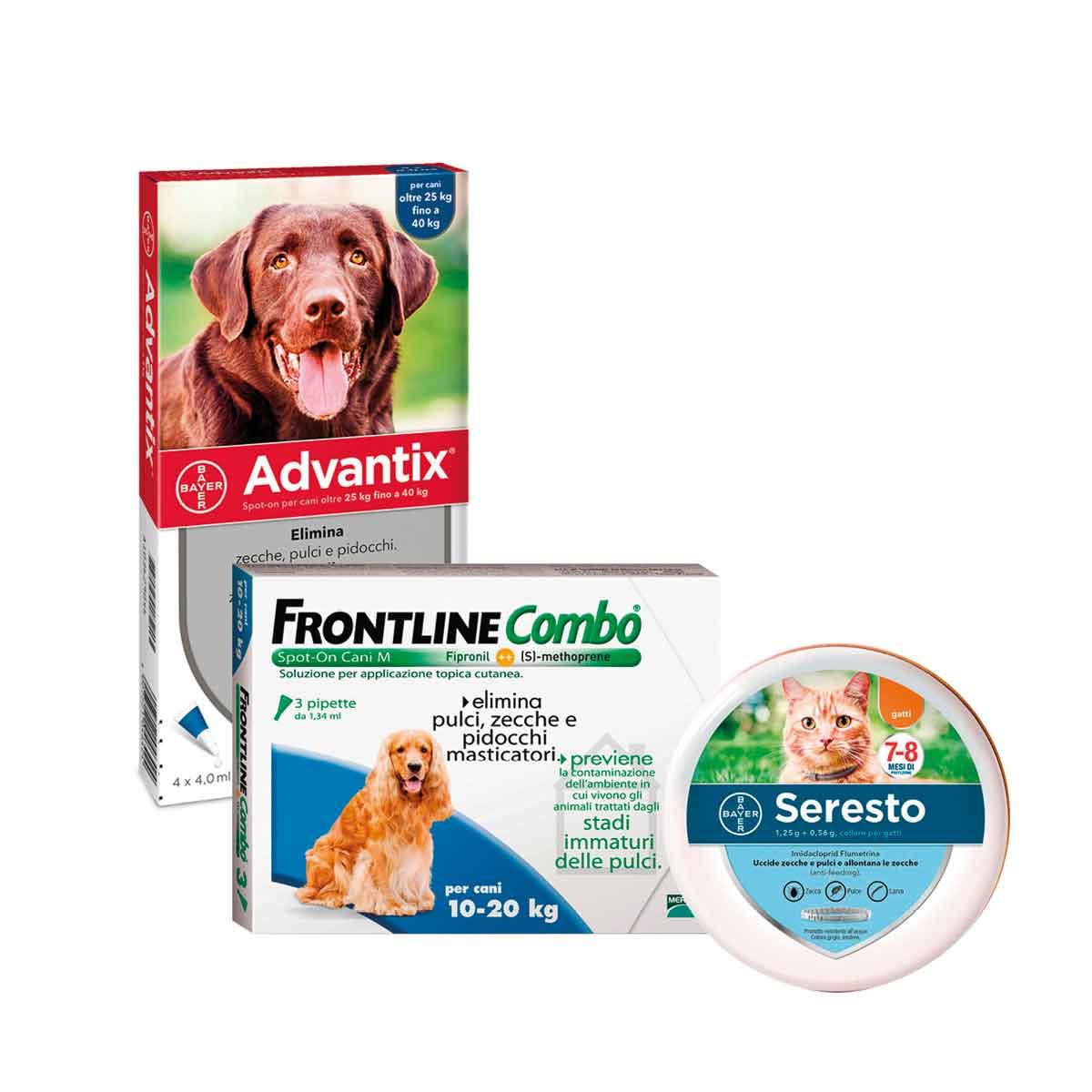 Linee Antiparassitari per cani e gatti
