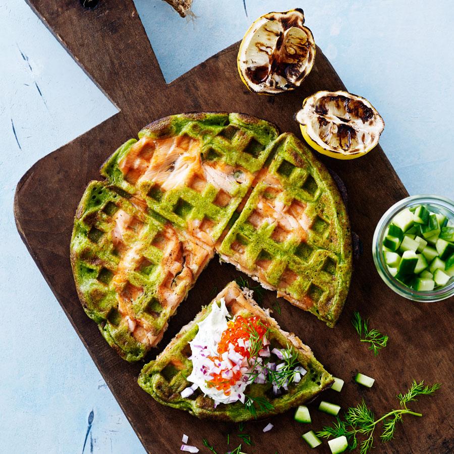 Cialda spinaci e salmone | @Weber