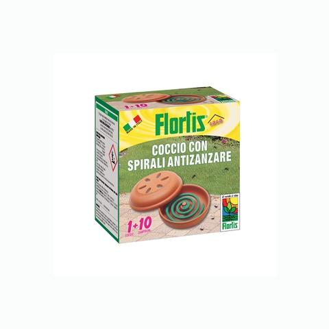 Flortis coccio con spiarali anti zanzare