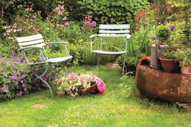 Estate al naturale in balcone o piccolo giardino