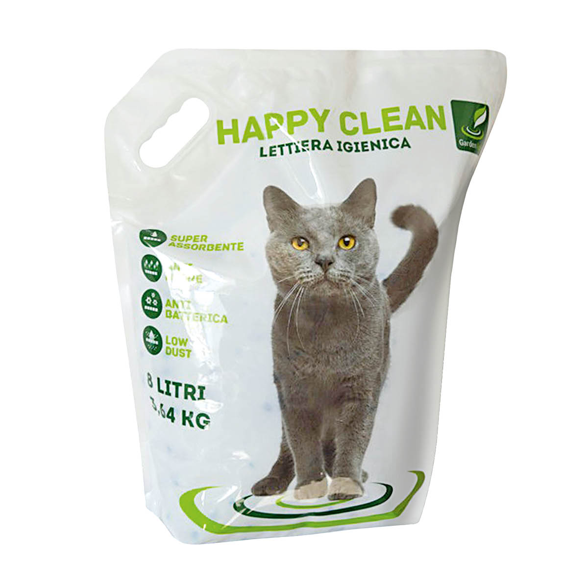 Happy Clean lettiera igienica al silicio 8 litri