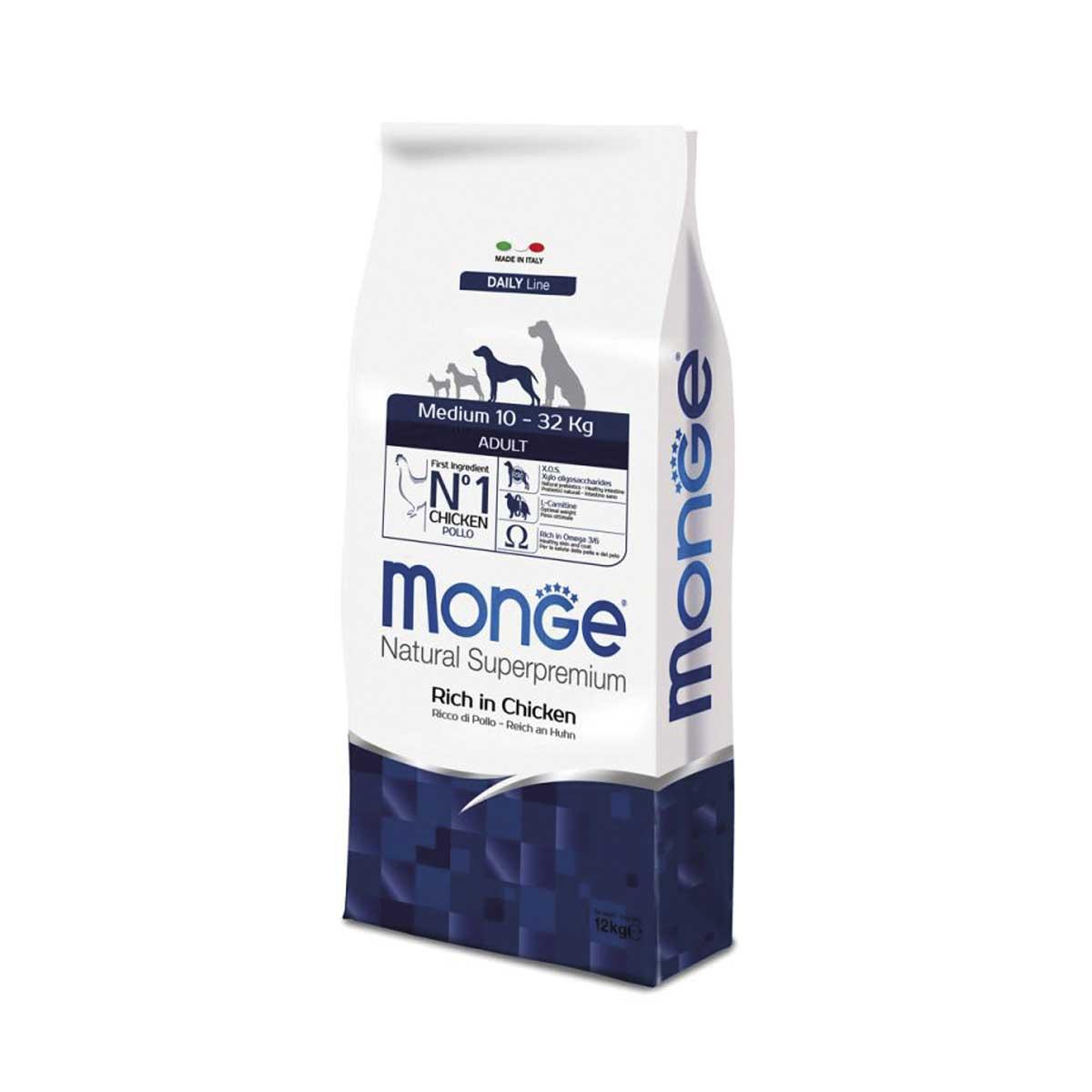 Monge Natural Superpremium Daily Medium/Large Adult 12 kg