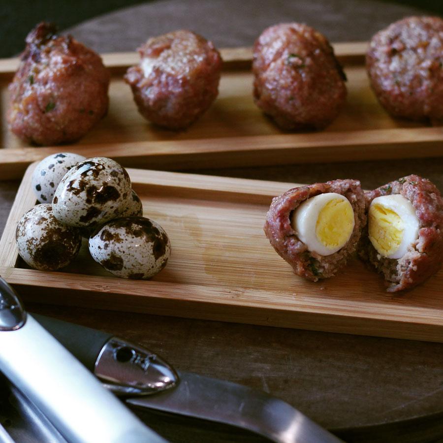 Quail Scotch Eggs | @Weber