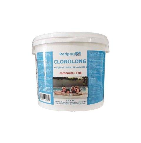 Redpool Clorolong pastiglie tricloro 200g -5kg