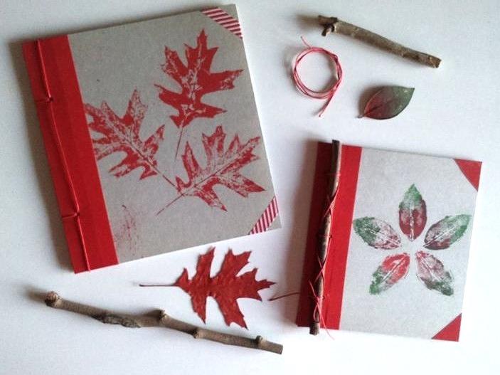 Quaderno handmade ispirato alla natura