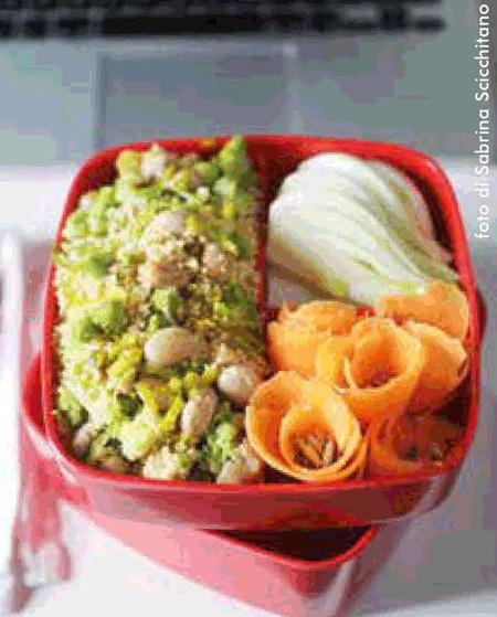 Cous Cous con verdure, fagioli e curry