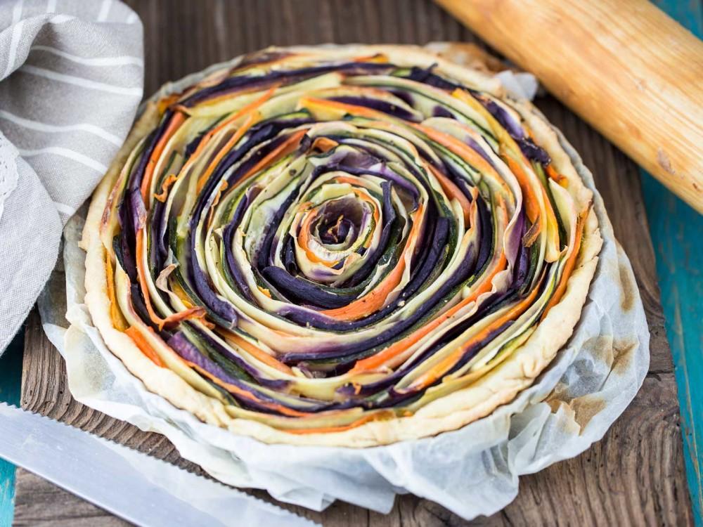 Torta fiore di ortaggi