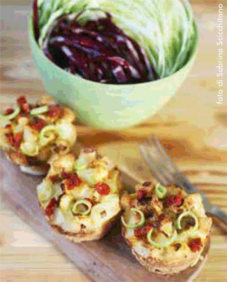 Tortino di uova, patate e pomodori secchi