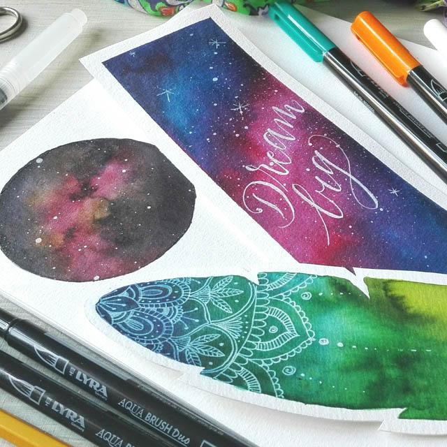 Galaxy Painting, come disegnare una galassia stellata