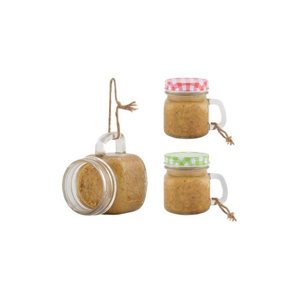 Vasetto mug portaburro per uccellini appendibile