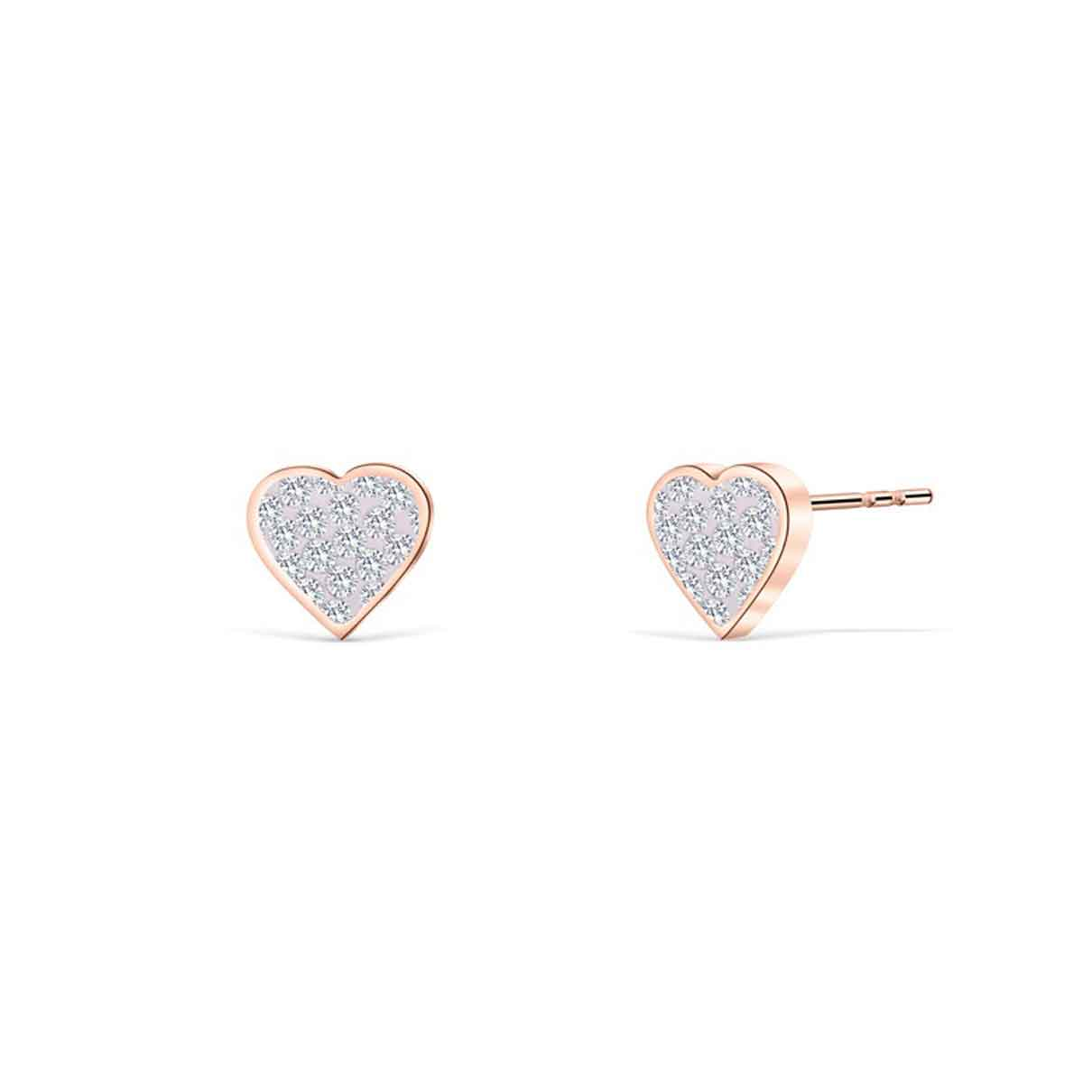 Bijoux Orecchini cuore con Cristalli Swarovski