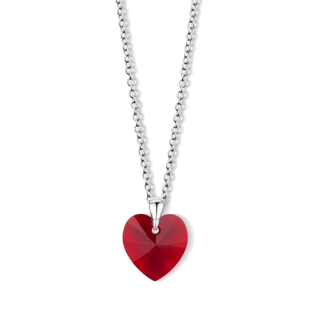 Bijoux Pendente cuore in Cristallo Swarovski rosso