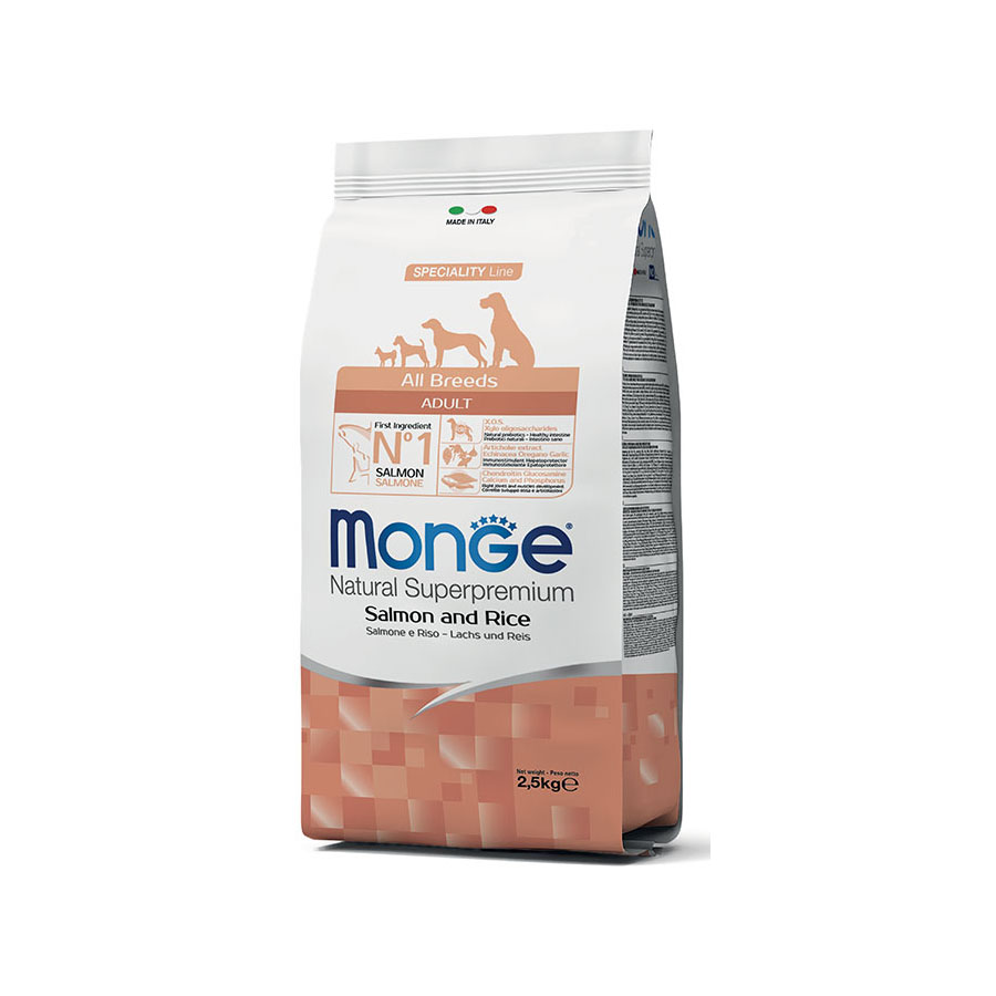 Monge Adult All Breeds Salmone e Riso 2,5kg