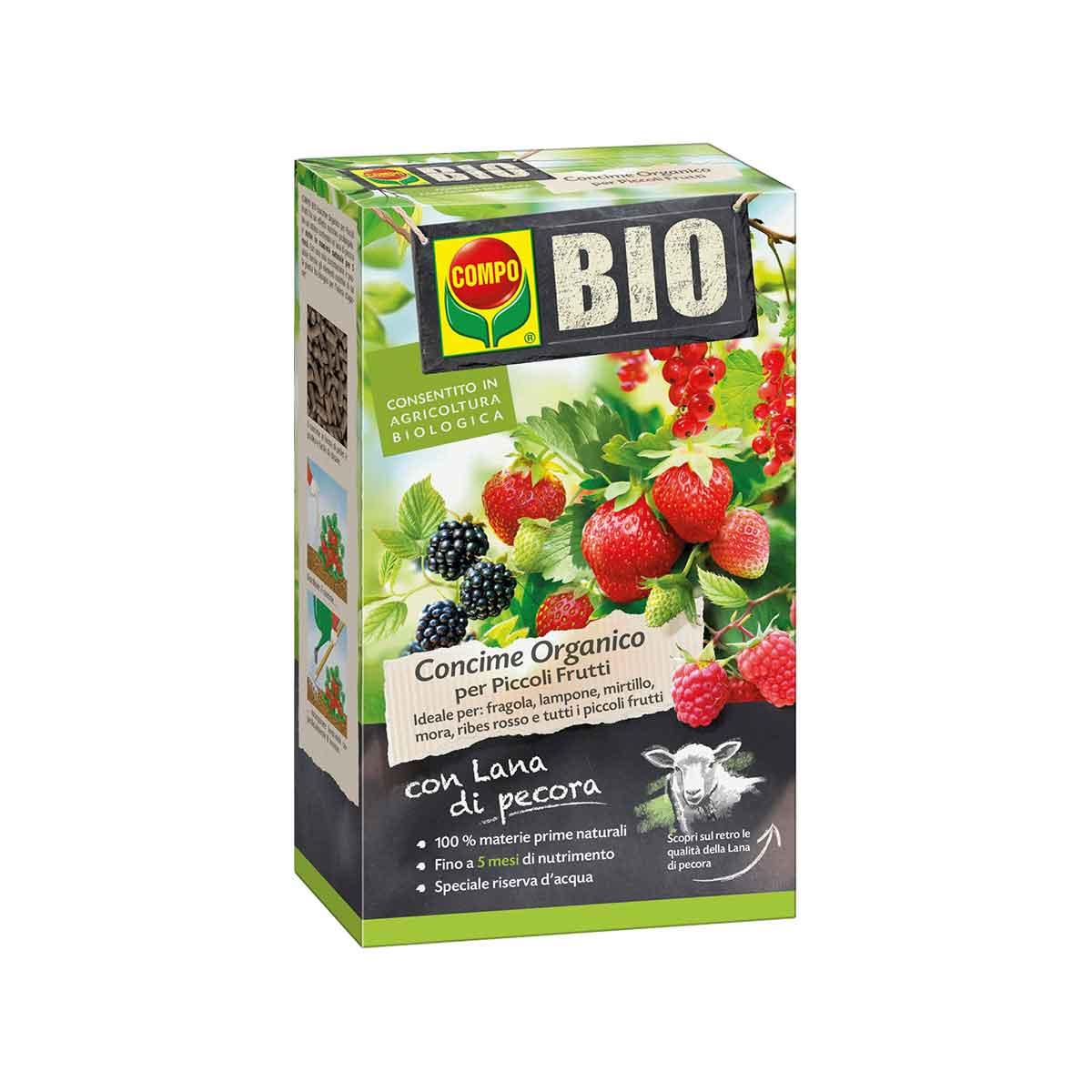 Compo Concime Bio con lana di Pecora per Piccoli Frutti
