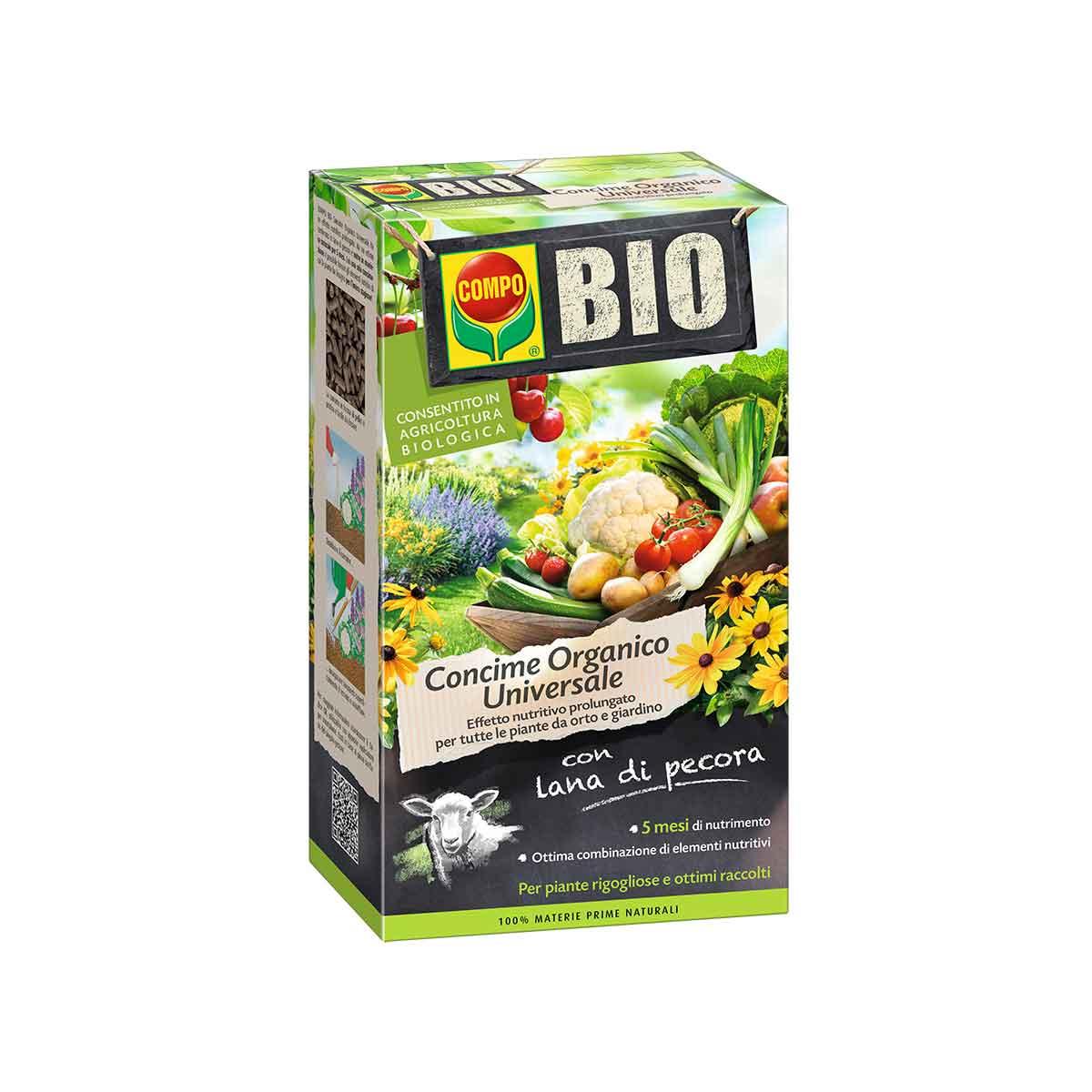 Compo Concime Organico Bio Universale con Lana di Pecora 2kg