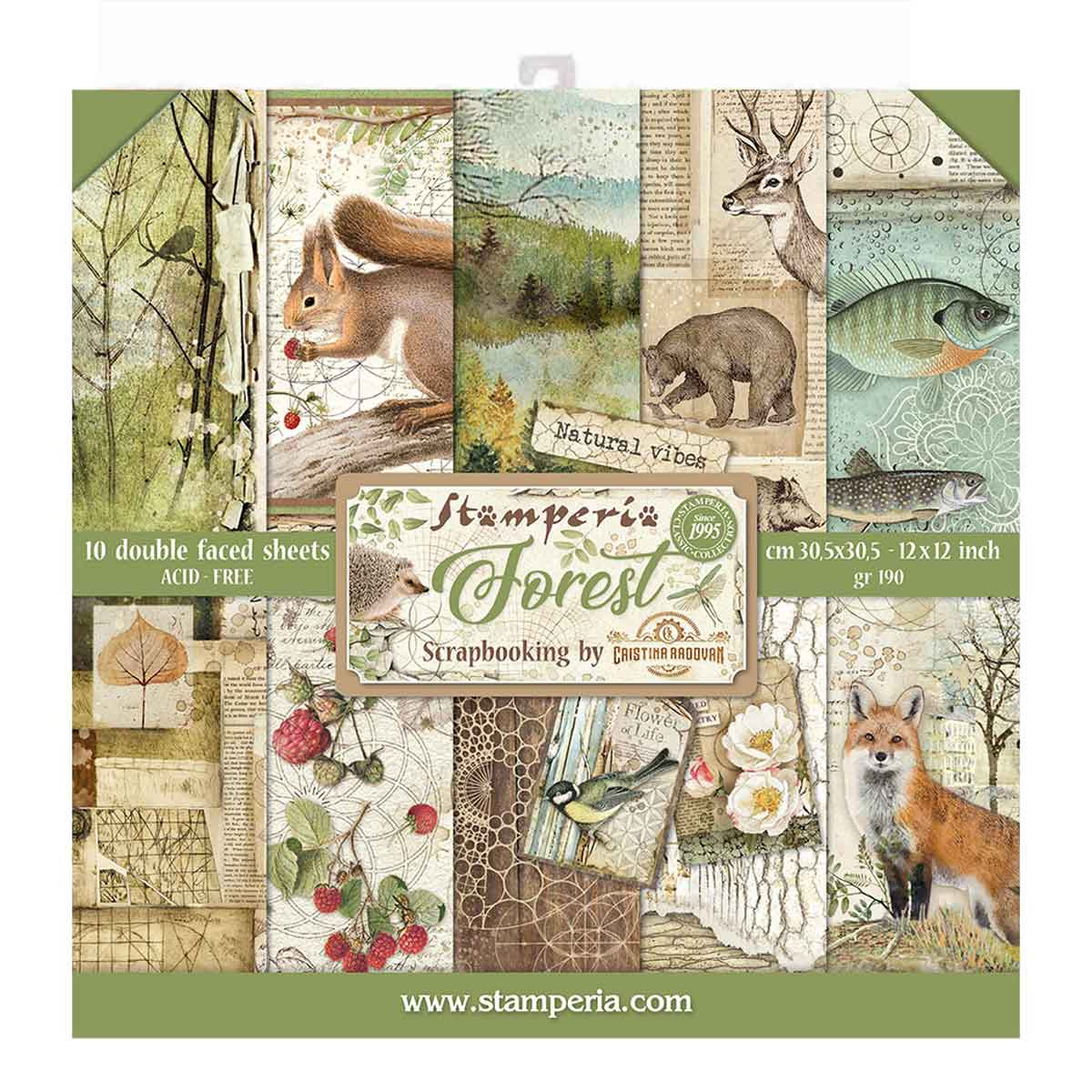 Linea Forest Scrapbooking – Blocco 30×30