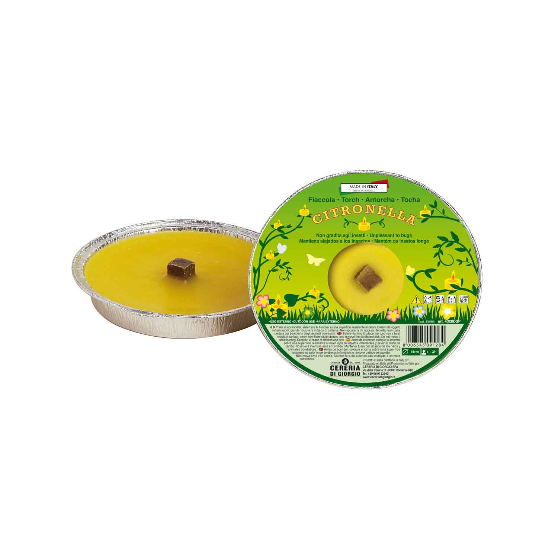 Fiaccola anti zanzare alla citronella diametro 14cm