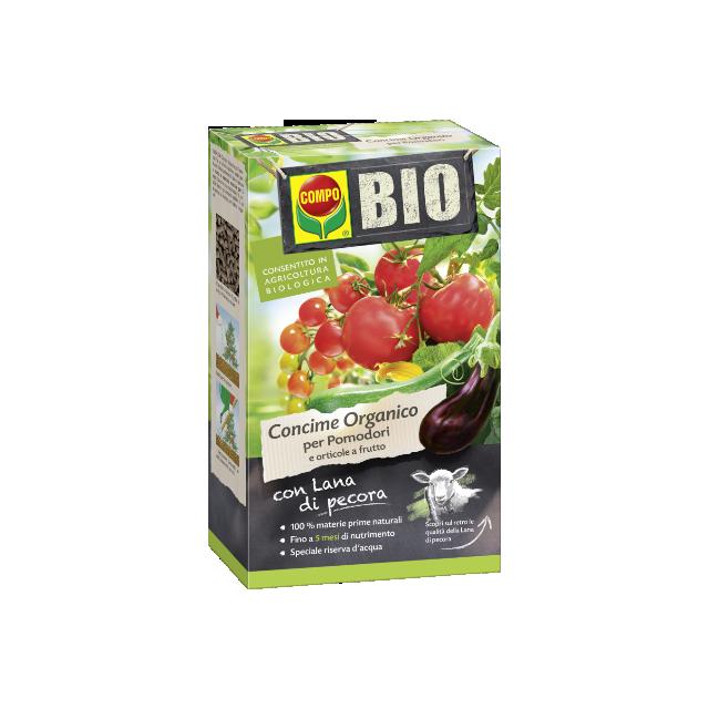 Compo Bio Concime Organico con lana di pecora per Pomodori e orticole da frutto