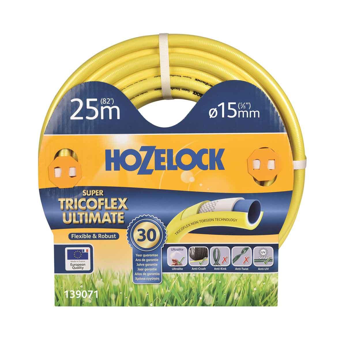 Hozelock Tubo Super Tricoflex Ultimate da 25mt e 15mm∅