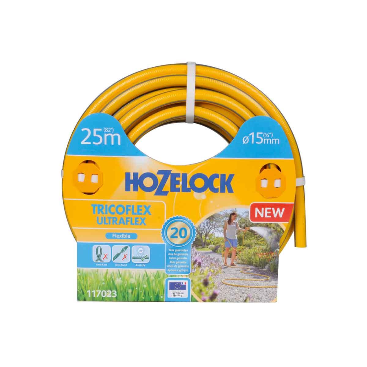 Hozelock Tubo Tricoflex Ultraflex da 25mt e 15mm∅