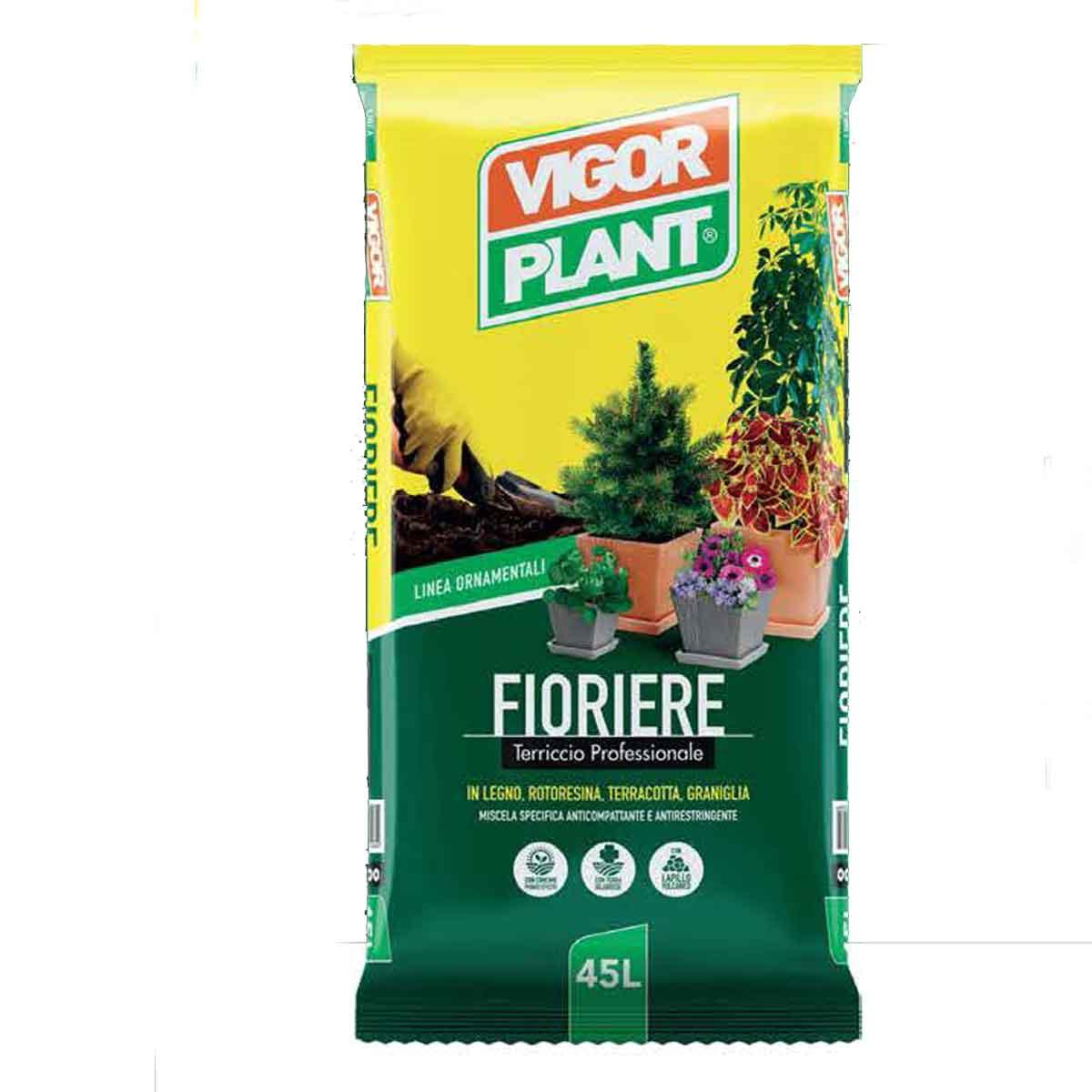 Vigorplant terriccio per fioriere 45l