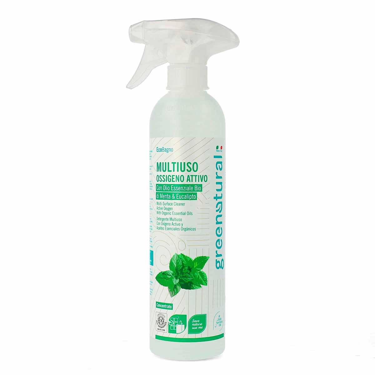 Greenatural – Detersivo Multiuso Ossigeno Attivo Menta e Eucalipto