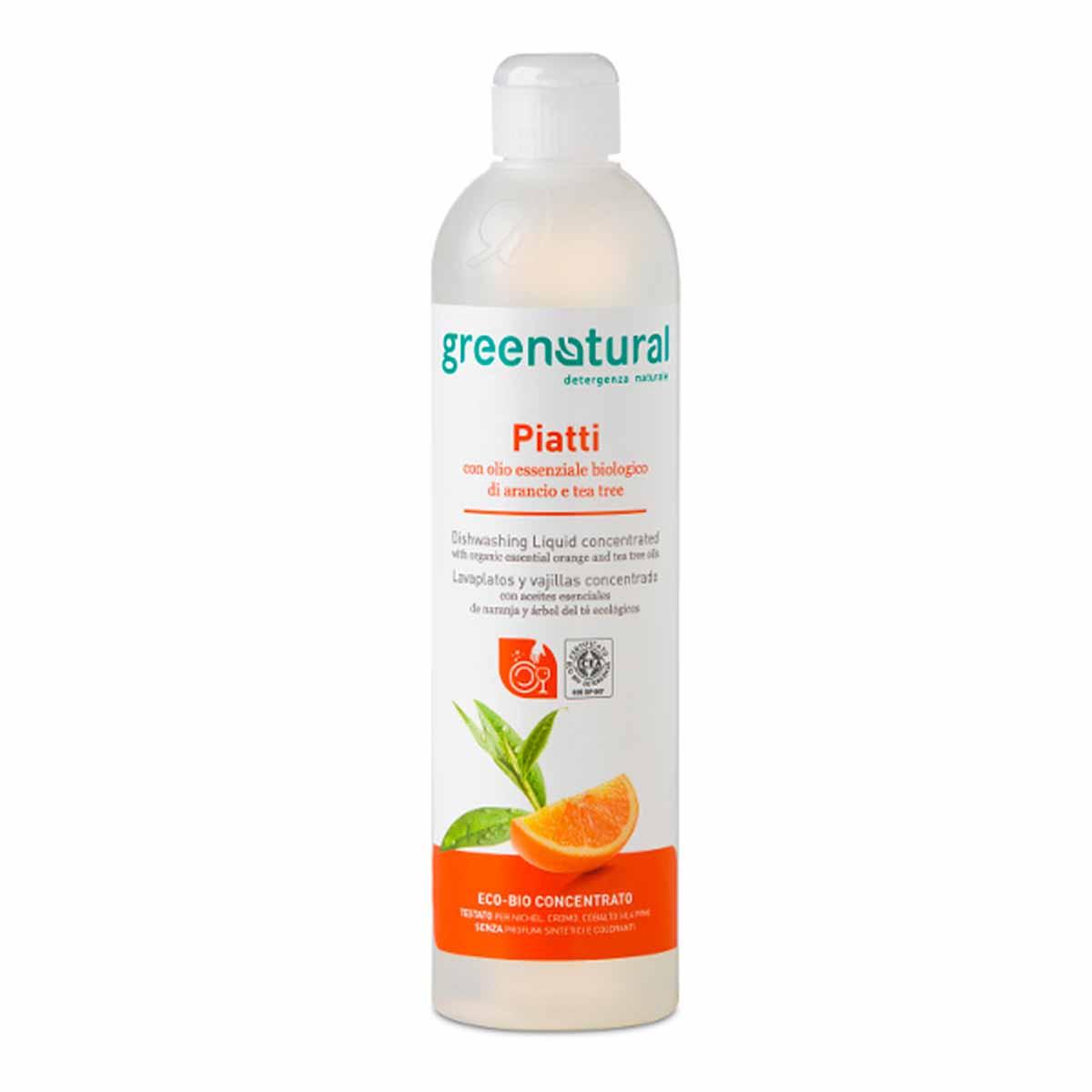 Greenatural – Bio Detergente Cucina – Piatti Arancio & Tea Tree