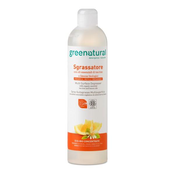 Greenatural – Sgrassatore con oli essenziali di tea tree e limone – Ricarica