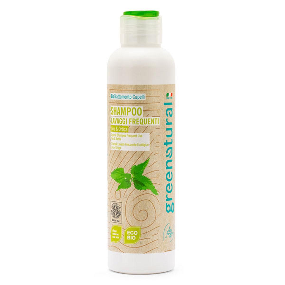 Greenatural – Shampoo Lavaggi Frequenti Lino & Ortica 250ml