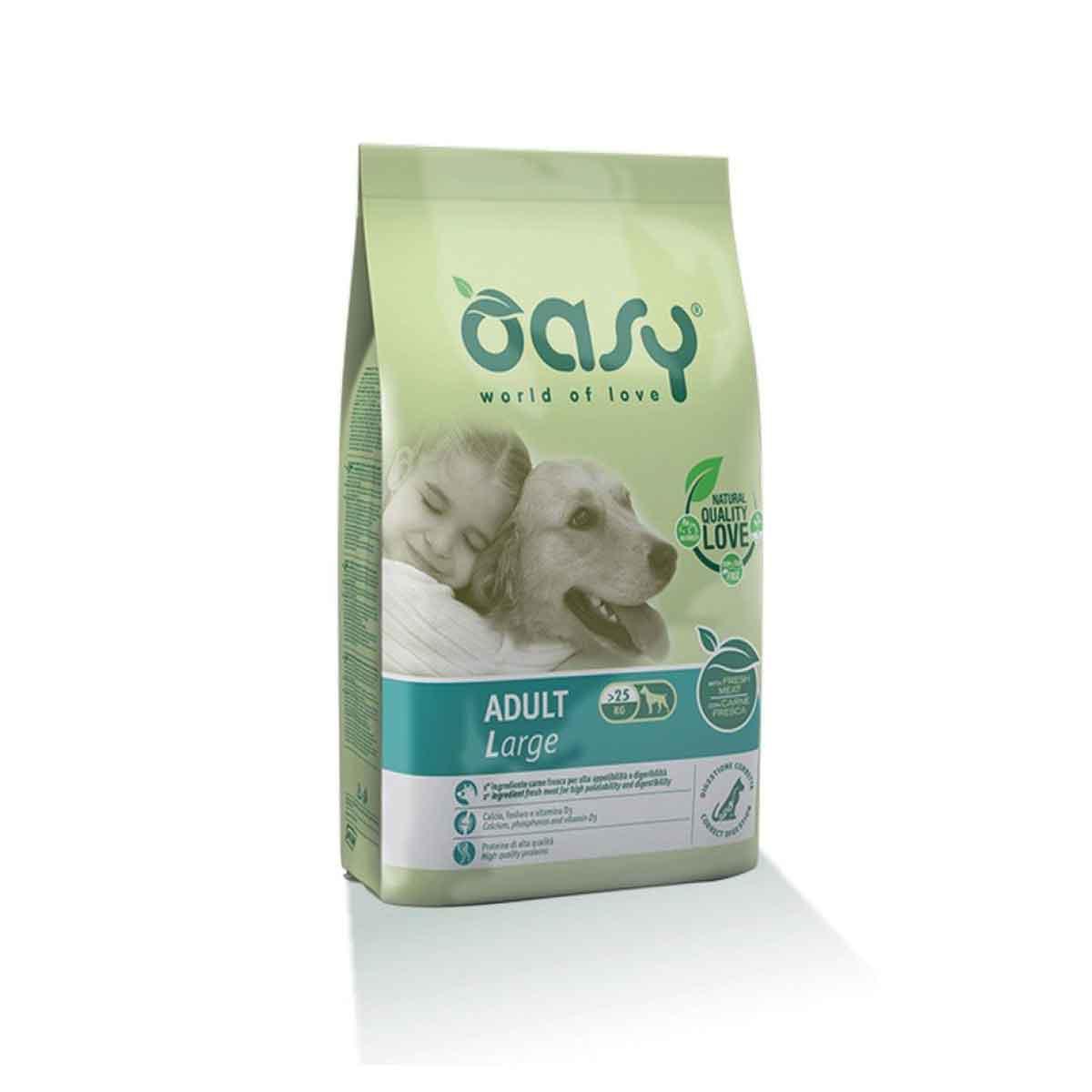 Oasy Dog Dry Adult Medium e Large 12 kg