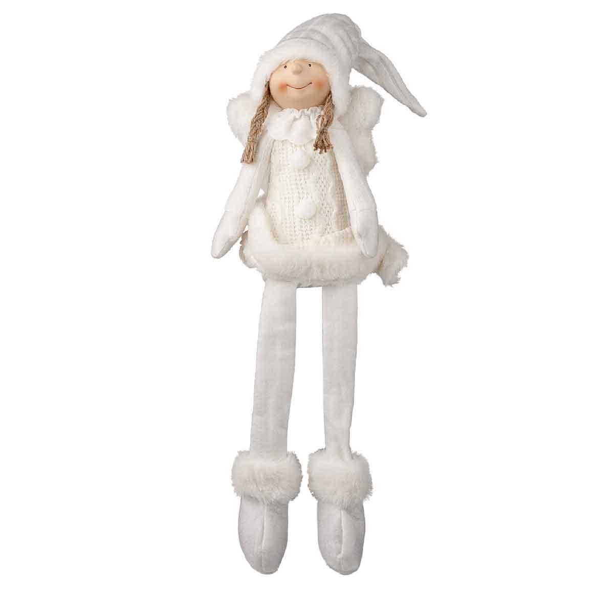 Angelo da mensola con gambe penzolanti
