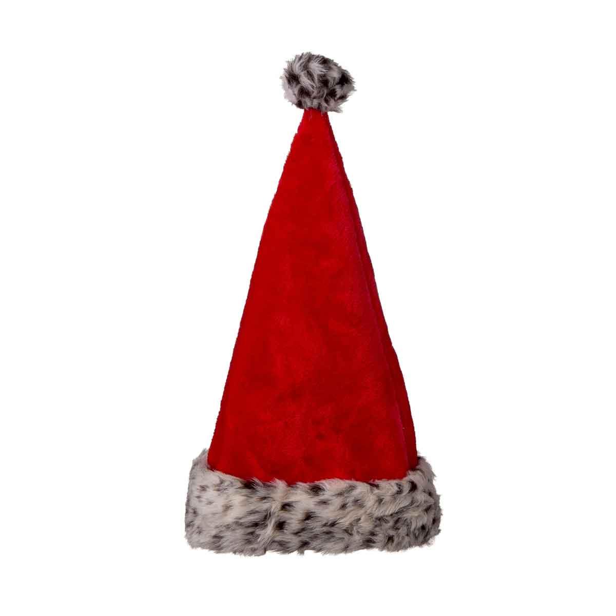Cappello di Babbo Natale con inserto in ecopelliccia