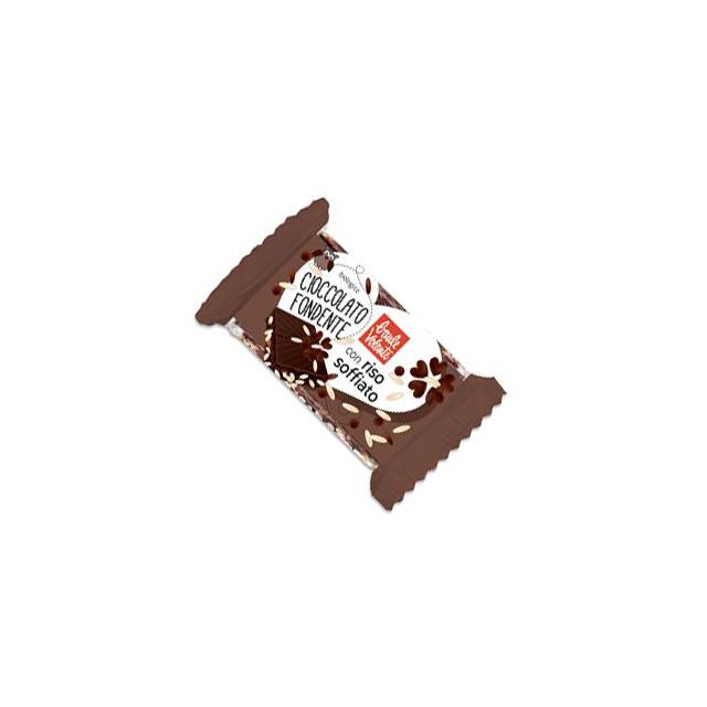 Cioccolato fondente con riso soffiato