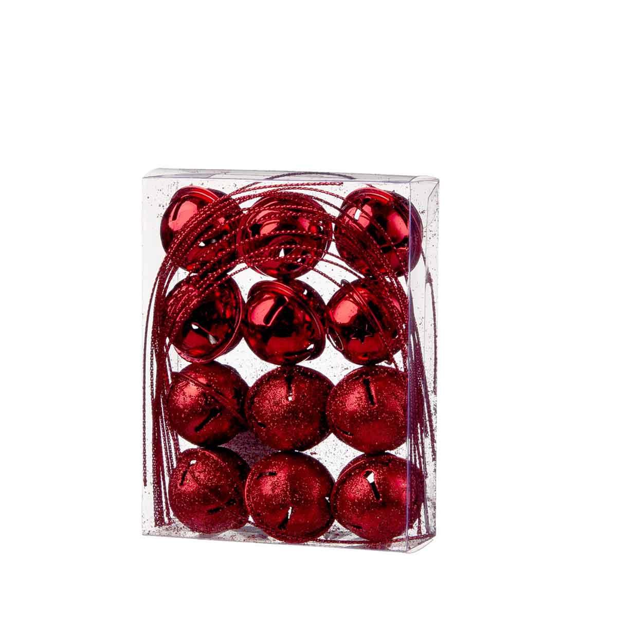 Confezione da 12 campanelli rossi