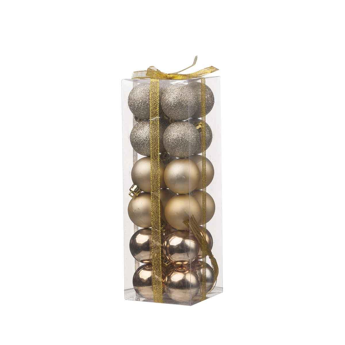 Tubo da 24 sfere assortite oro