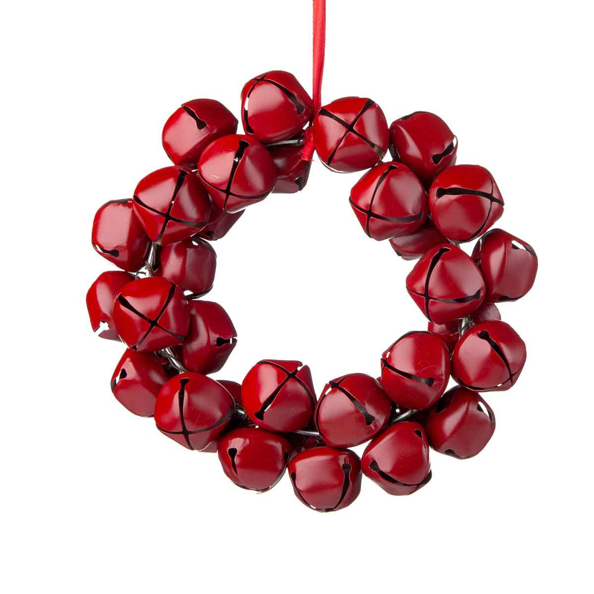 Corona di campanelli rosso lucido