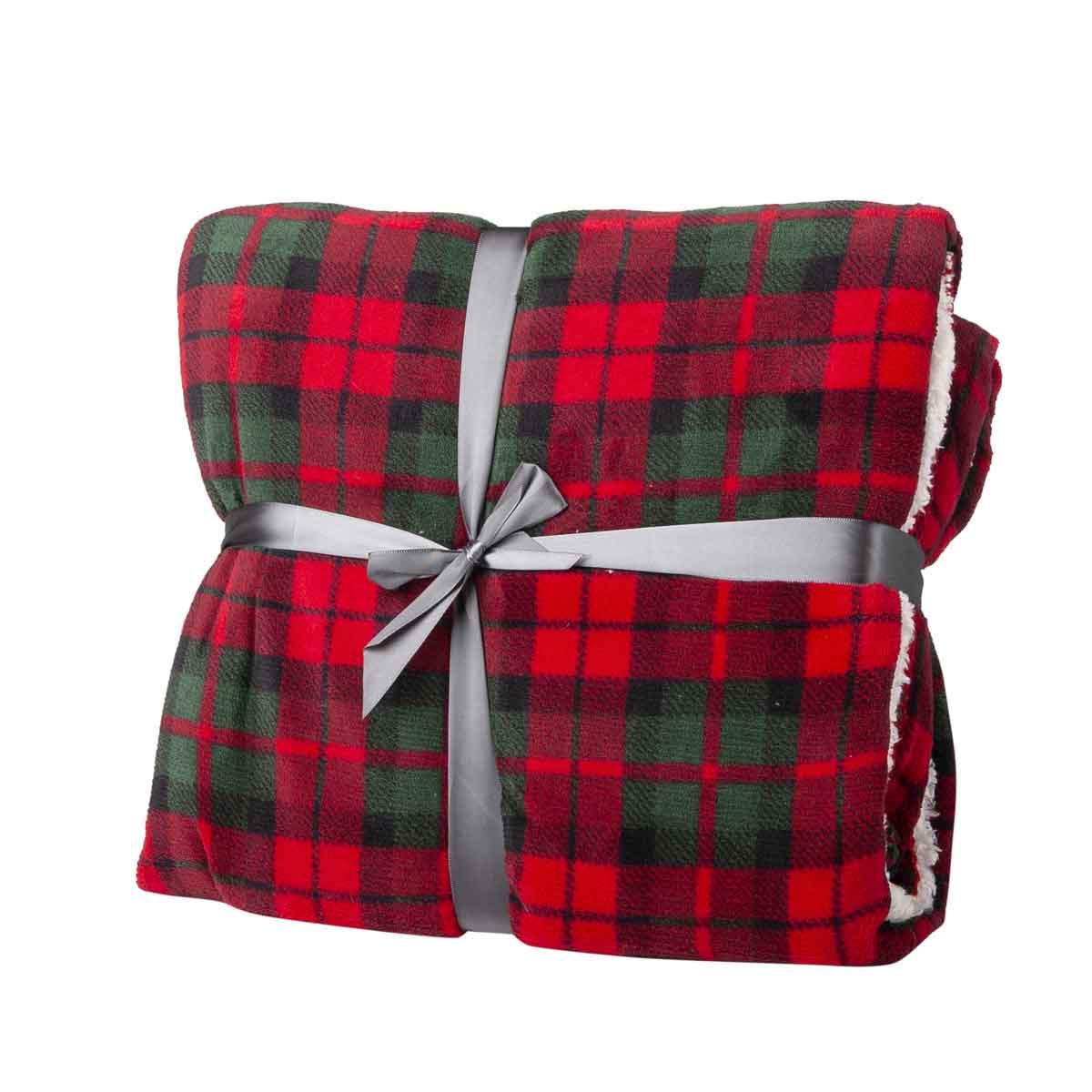 Plaid Falun scozzese rosso e verde
