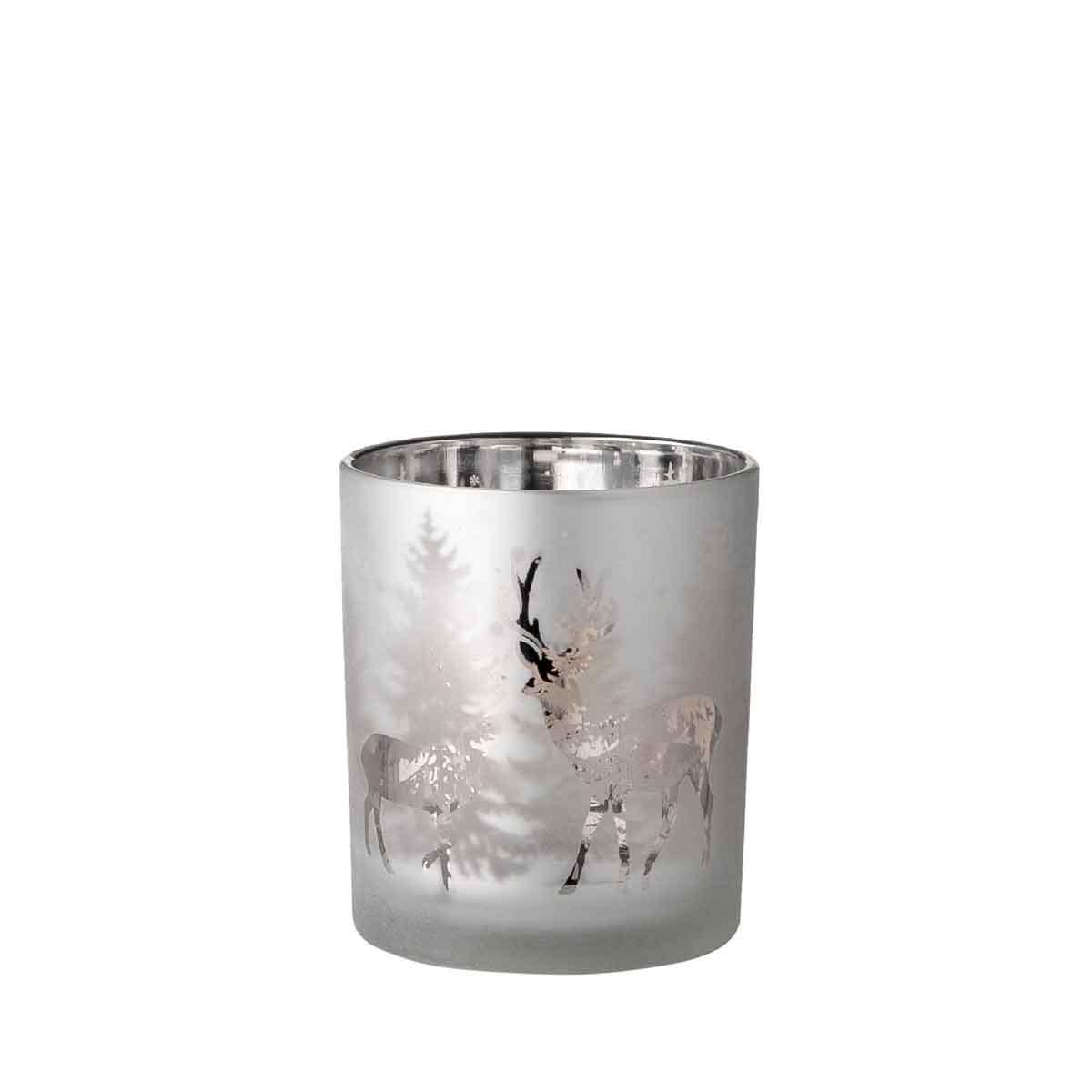 Porta tealight in vetro altezza 10cm