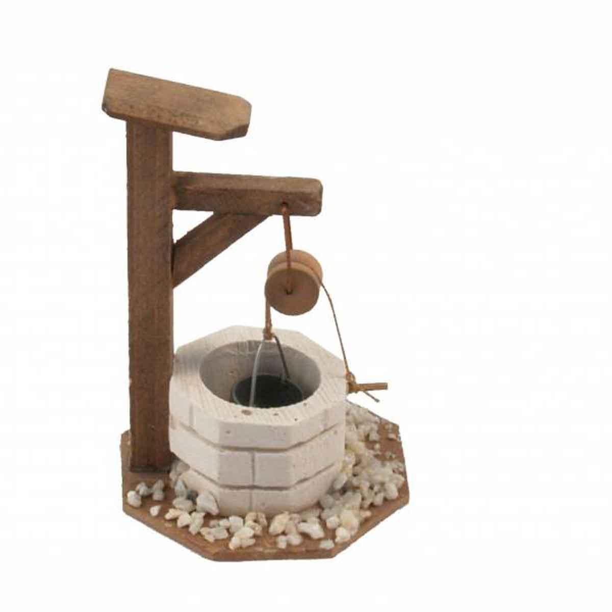 Presepe – Pozzo in legno con carrucola