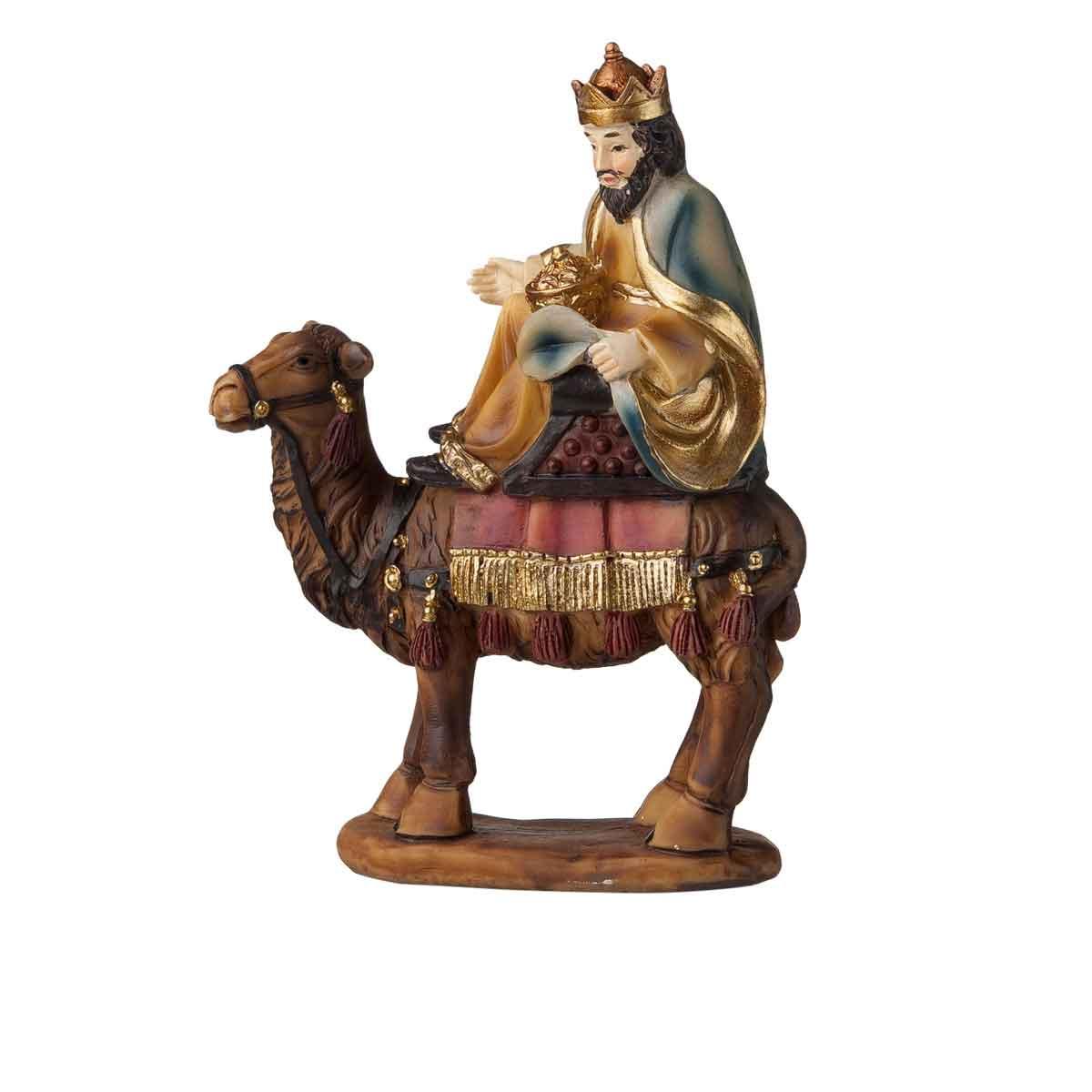 Presepe – Re Magio con Cammello altezza 12cm