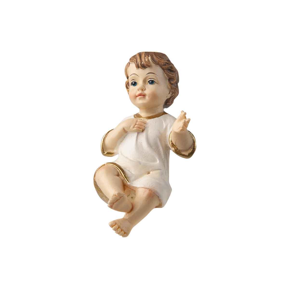 Presepe – Statuetta Gesù Bambino con veste bianca