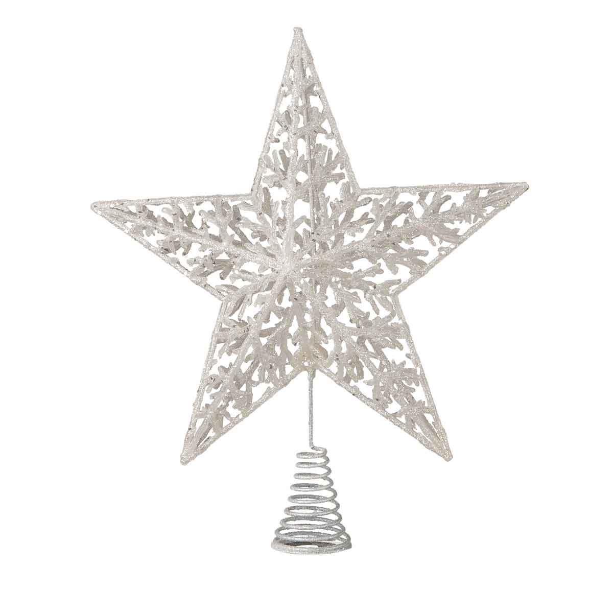 Puntale a stella bianco altezza 33cm