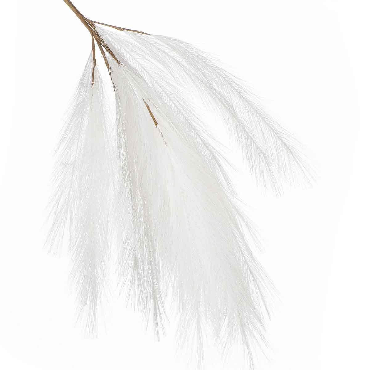 Ramo con piumette bianche lunghezza 110cm