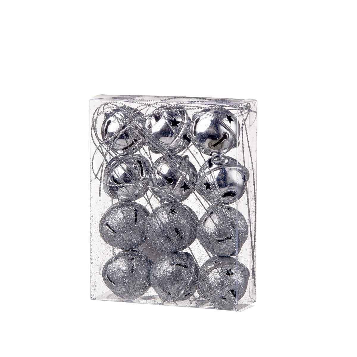 Set 12 campanelli argento