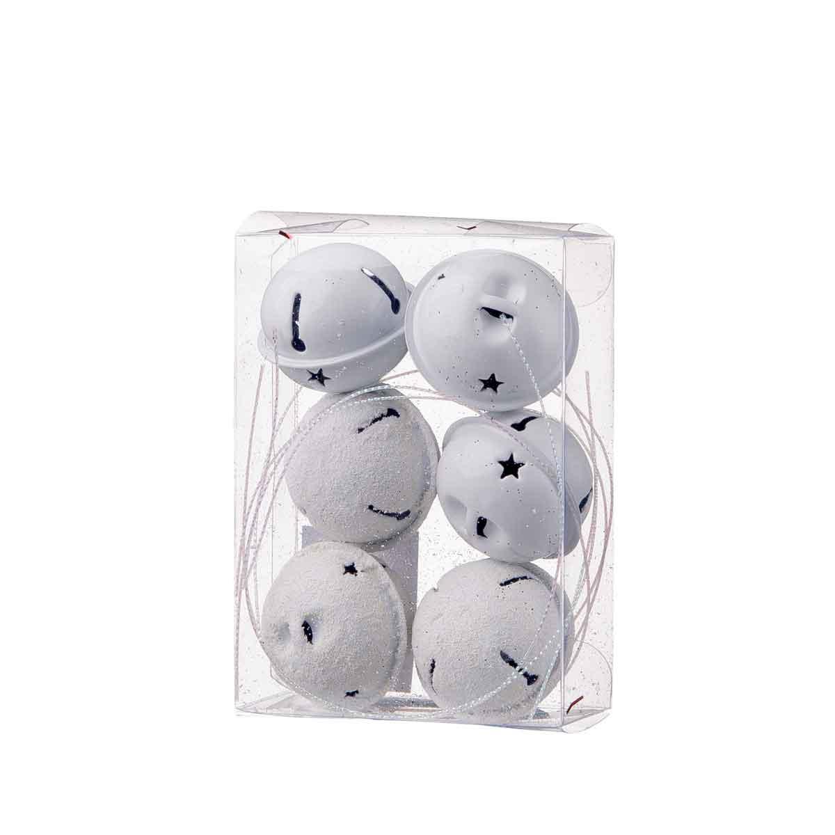 Set 6 campanelli bianchi