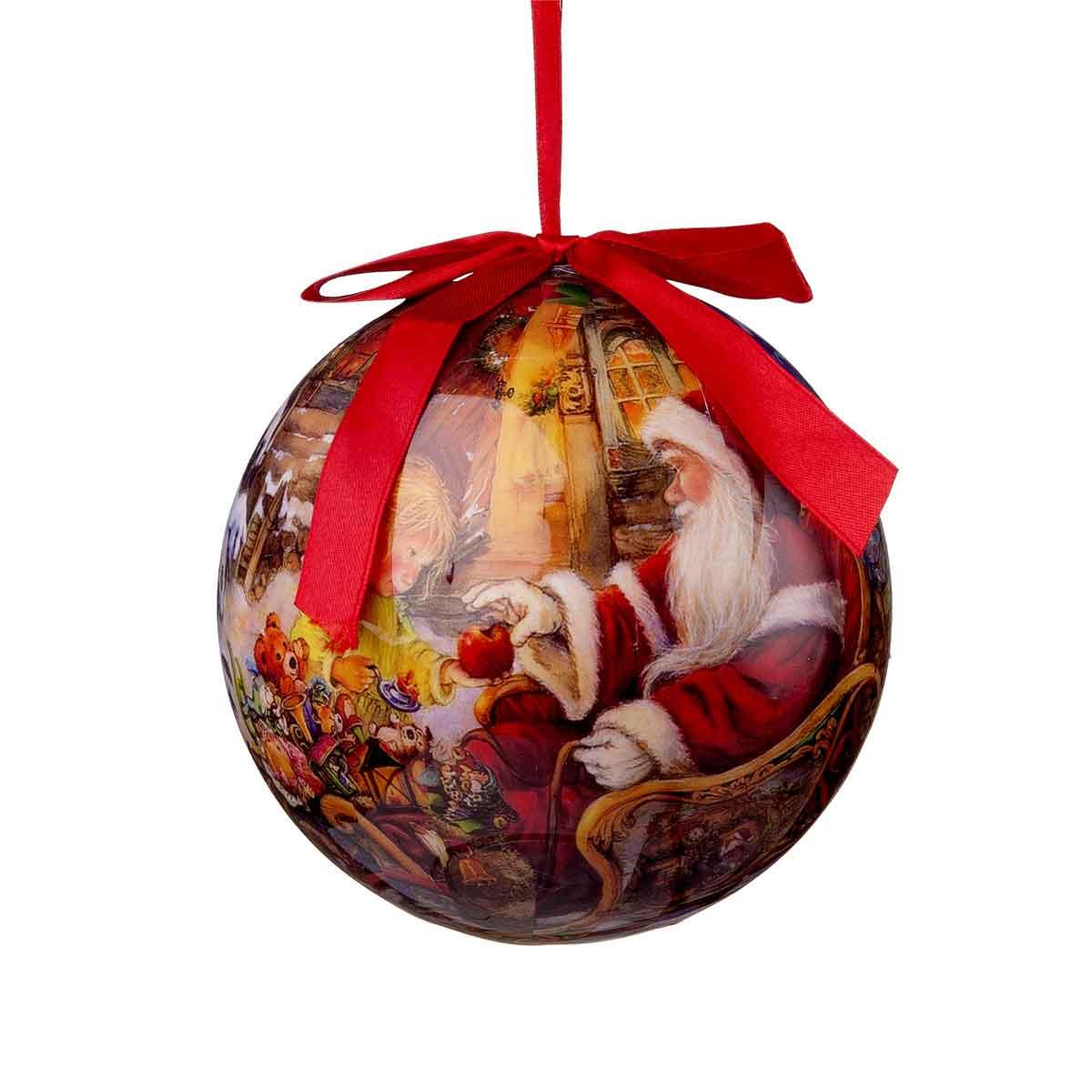 Sfera con Babbo Natale diametro 15cm