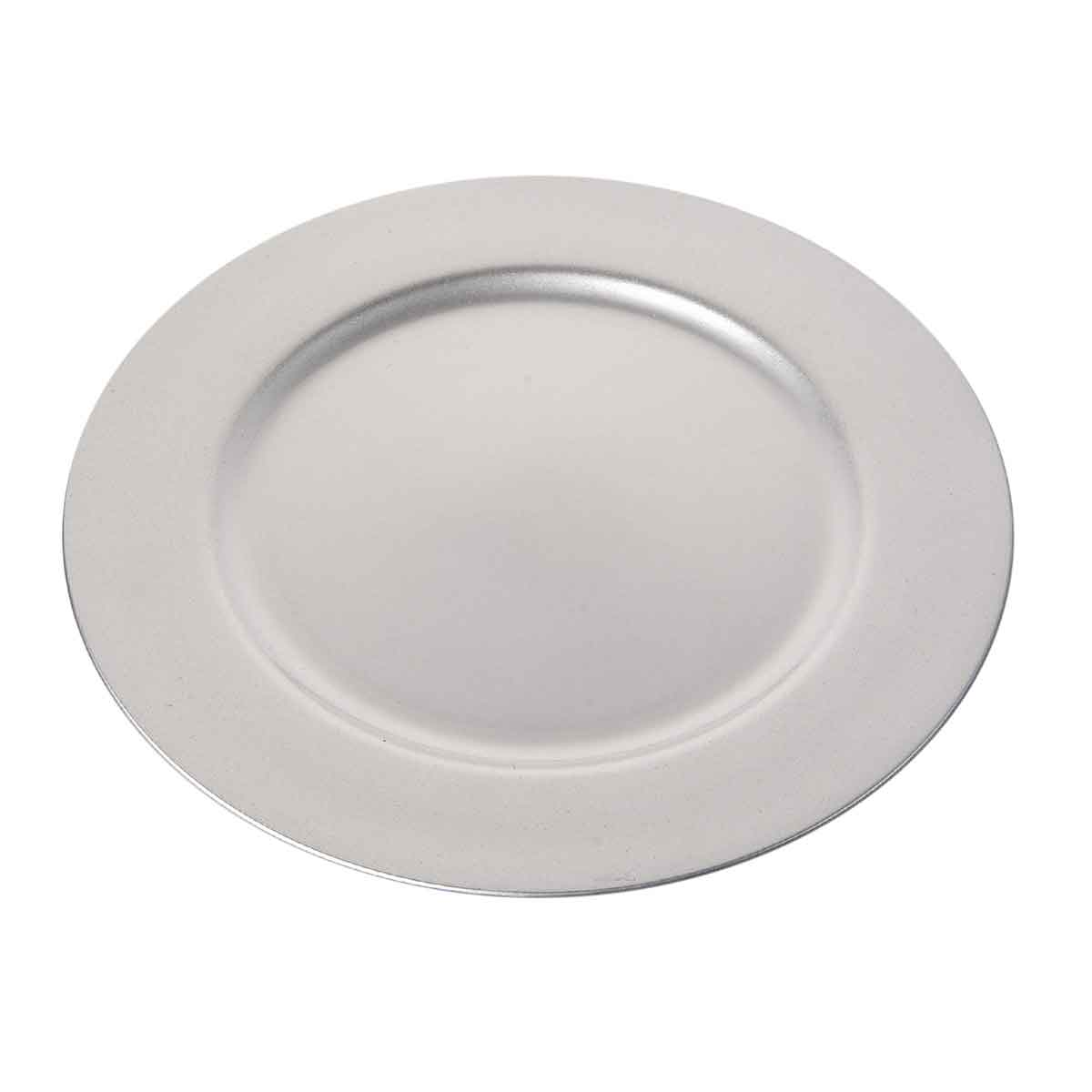 Sottopiatto argento diametro 33cm