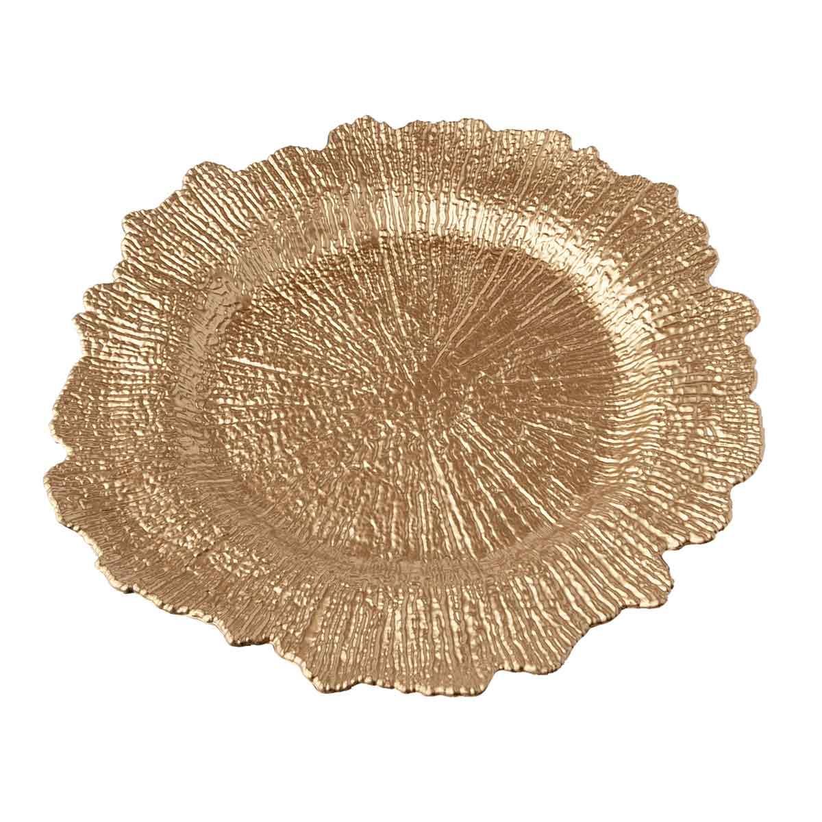 Sottopiatto dorato diametro 33cm